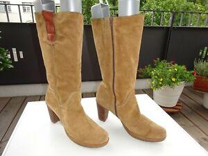 Talla 41 Señora Spain Gamuza Detalles Wonders Ver De Claro Zapatos Original Marrón Botines Top Título JK1FcTl3