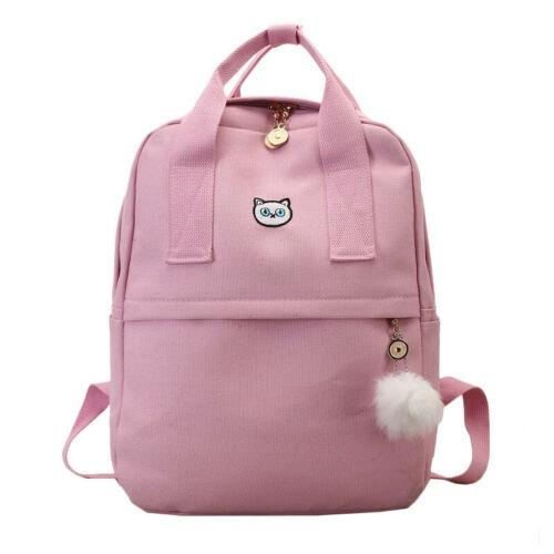 Women Backpack School Girl School Bag Canvas Fabric Bag Rucksack Knapsack Female