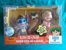 Disney Lilo & Stitch ROCKIN' ELVIS Figure Set - RARE - NEW! Jumpsuit Guitar +