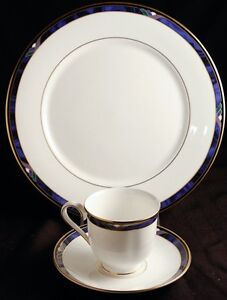 Lenox-ROYAL-KELLY-Cup-amp-Saucer-and-Dinner-plate-Great-Condition