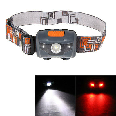 300LM Mini Super Bright Headlight R3+2 LED 4 Modes Headlamp Head Light Torch AAA
