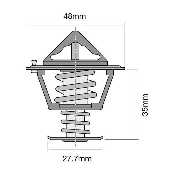 Tridon Thermostat TT214-180 for TOYOTA COROLLA 1988~2001 1.4L 1.5L 1.6L 1.8L 2.0