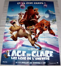 iCE AGE : COLLiSiON COURSE Prehistory Animation LARGE French POSTER