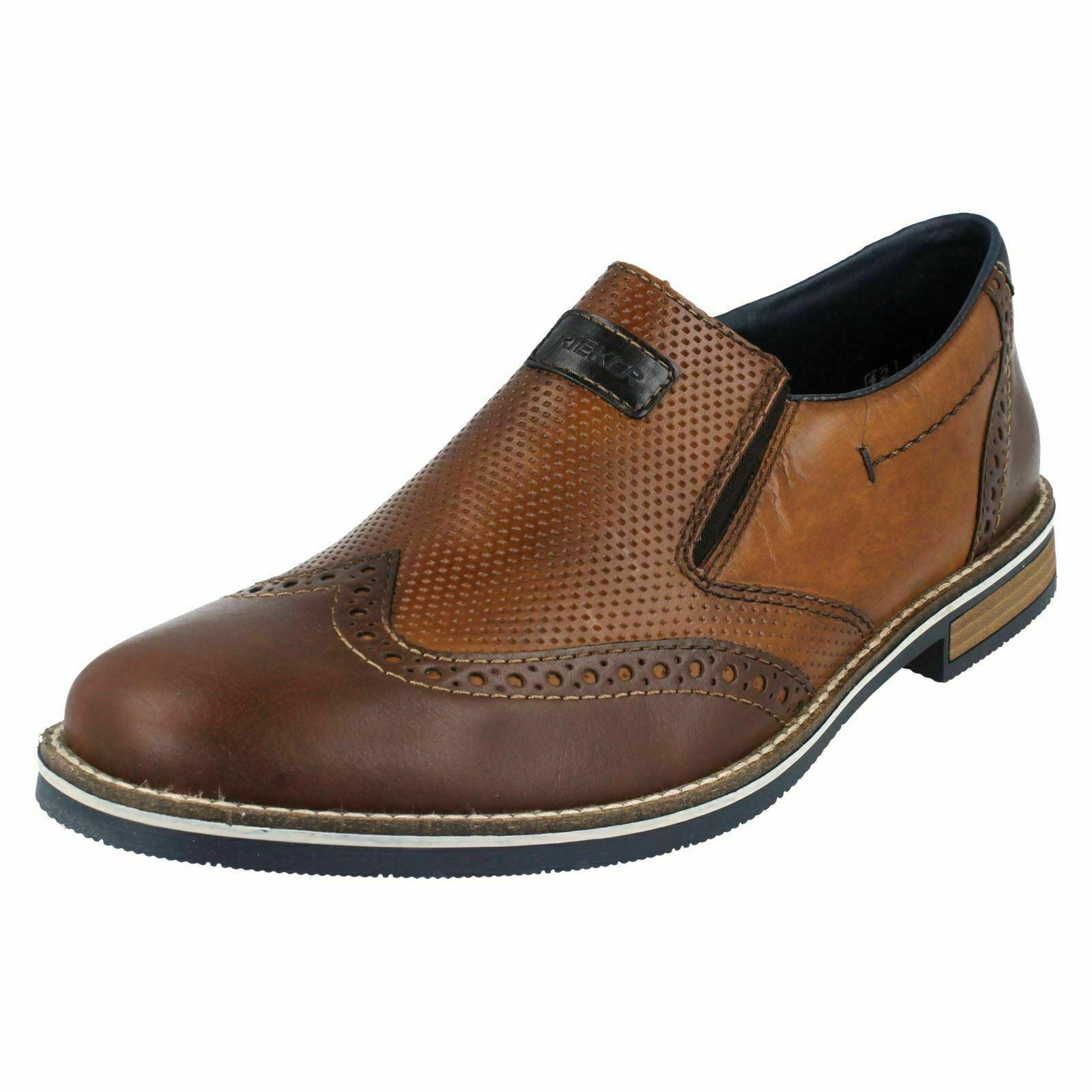 marchi di stilisti economici Uomo Rieker 13560-25 pelle Marrone Sintetico Alla Alla Alla Moda Scarpe Slip-On  liquidazione