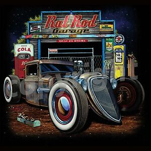 Rat rod t shirts rusty hot rod junkyard garage auto parts for Garage auto discount montpellier