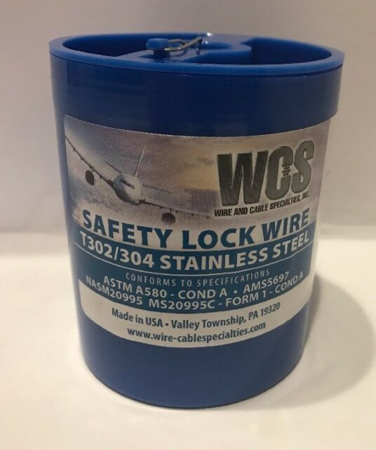 Stainless steel annealed wire Safety Lockwire 335,5 feet // 110 meter Safety Lockwire,Annealed Wire 304-0.031 inch // 0.80 mm