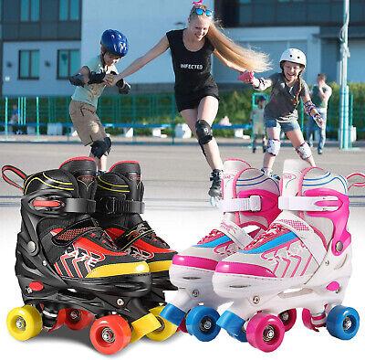 NEW~Adjustable Size Roller Skates for Kids 4 Wheels Children Boys Girls Beginner
