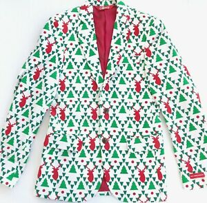 Shinesty-Geo-Reindeer-Christmas-Suit-Jacket-Blazer-Size-32-Unisex-Men-039-s-Sweater