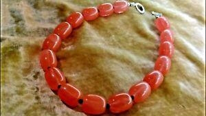 W-W-Beautiful-Strawberry-Rose-Quartz-Heavy-Beaded-Necklace-130-g-AMAZING