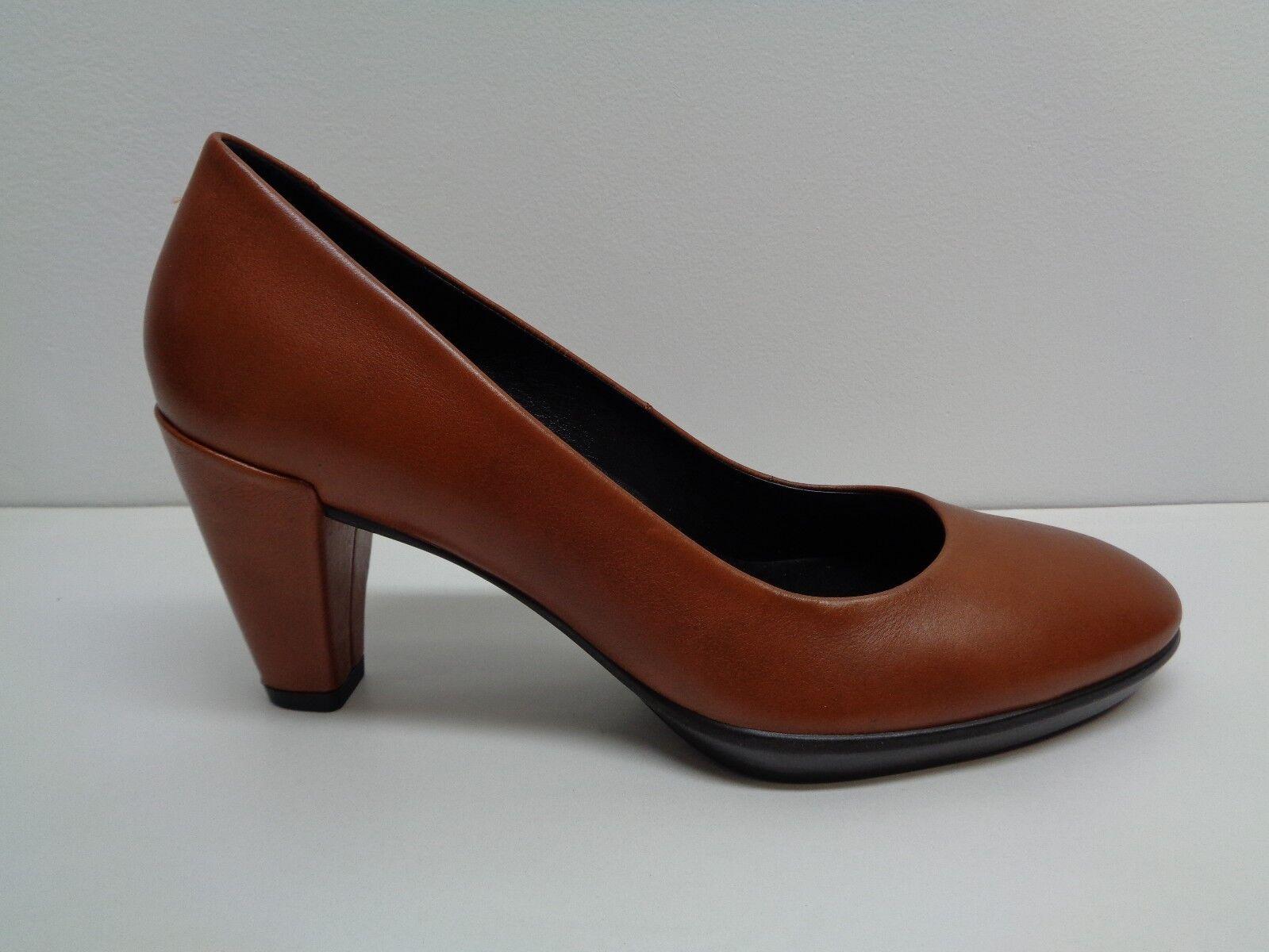 Ecco tamaño 6 a 6.5 37 euros de forma Tacón 55 Marrón Cuero Tacón forma Bombas Nuevos Mujer Zapatos 262b11
