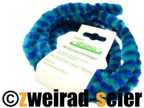232mm 760mm lang MZ vorne /& hinten Nabenputzringe WÜMA grün//blau SET