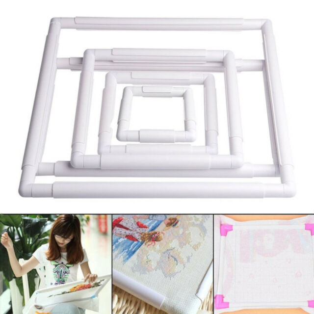 JQ_ Plastic Frame Embroidery Cross Stitch Sewing Stand Lap DIY Accessories Eye