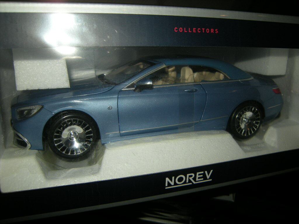 Todo en alta calidad y bajo precio. 1 18 norev mercedes-Maybach s650 cabrio cabrio cabrio 2018 azul azul nº 183471 en OVP  genuina alta calidad
