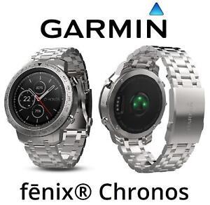 11851808eed Image is loading Garmin-Fenix-Chronos-GPS-Watch-Brushed-Stainless-Steel-