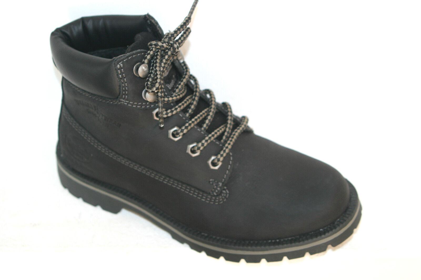Dockers Wanderschuhe Stiefel Stiefel Damen Jungen Mädchen Warmfutter schwarz