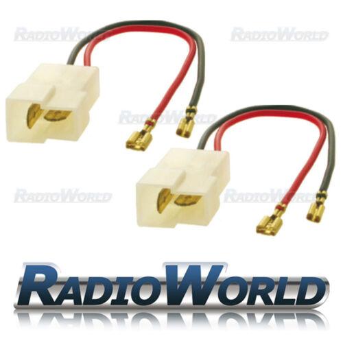 Fiesta Speaker Adaptor Lead Loom Plug Ford KA Mondeo Puma PC2-802 Pair