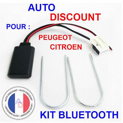 Adaptateur Audio AUX Stéréo Module Bluetooth pour Peugeot 207 307 407 MA1967
