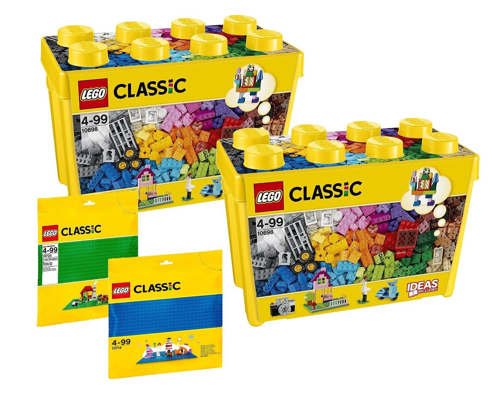 più preferenziale LEGO LEGO LEGO ® super-set  2 x 10698 bausteinescatola + 10700 + 10714 bauplatte verde e blu  prezzi più bassi