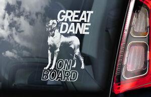 Alano-On-Board-Auto-Finestrino-Adesivo-Tedesco-Mastiff-Cane-Firmare