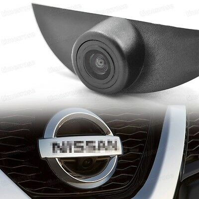 Waterproof CCD Wide Degree Car Front View Camera Logo Embedded for Nissan