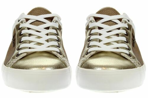 Damen gold Schuhe Clinton Pepe 099 Gold London Pls30466 Mesh Jeans Sneaker AnTRXq