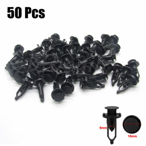 50Pcs 9mm Push-Type Bumper Retainer Auto Plastic Clips Fastener for Toyota Lexus