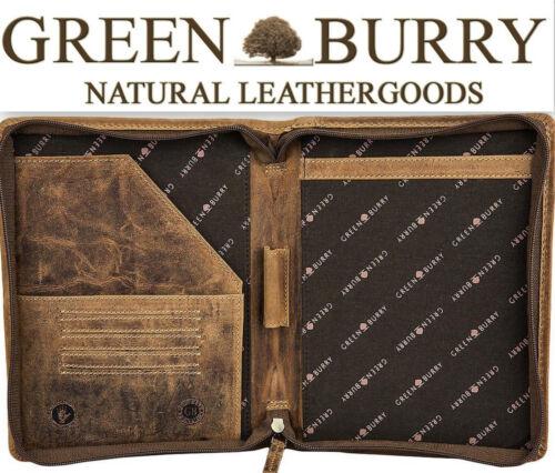 Greenburry Vintage RV Schreibmappe A5 Konferenzmappe braun Leder *!bestprice!*