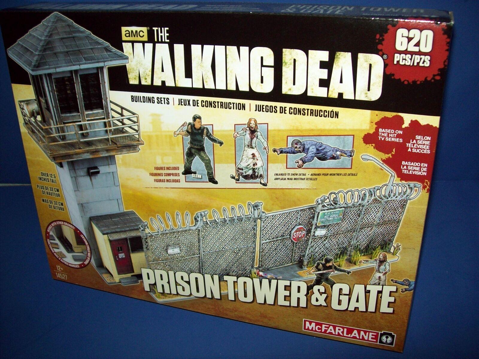 AMC 14527 The Walking Dead Set de Construcción Prisión Torre & Puerta Mcfarlane