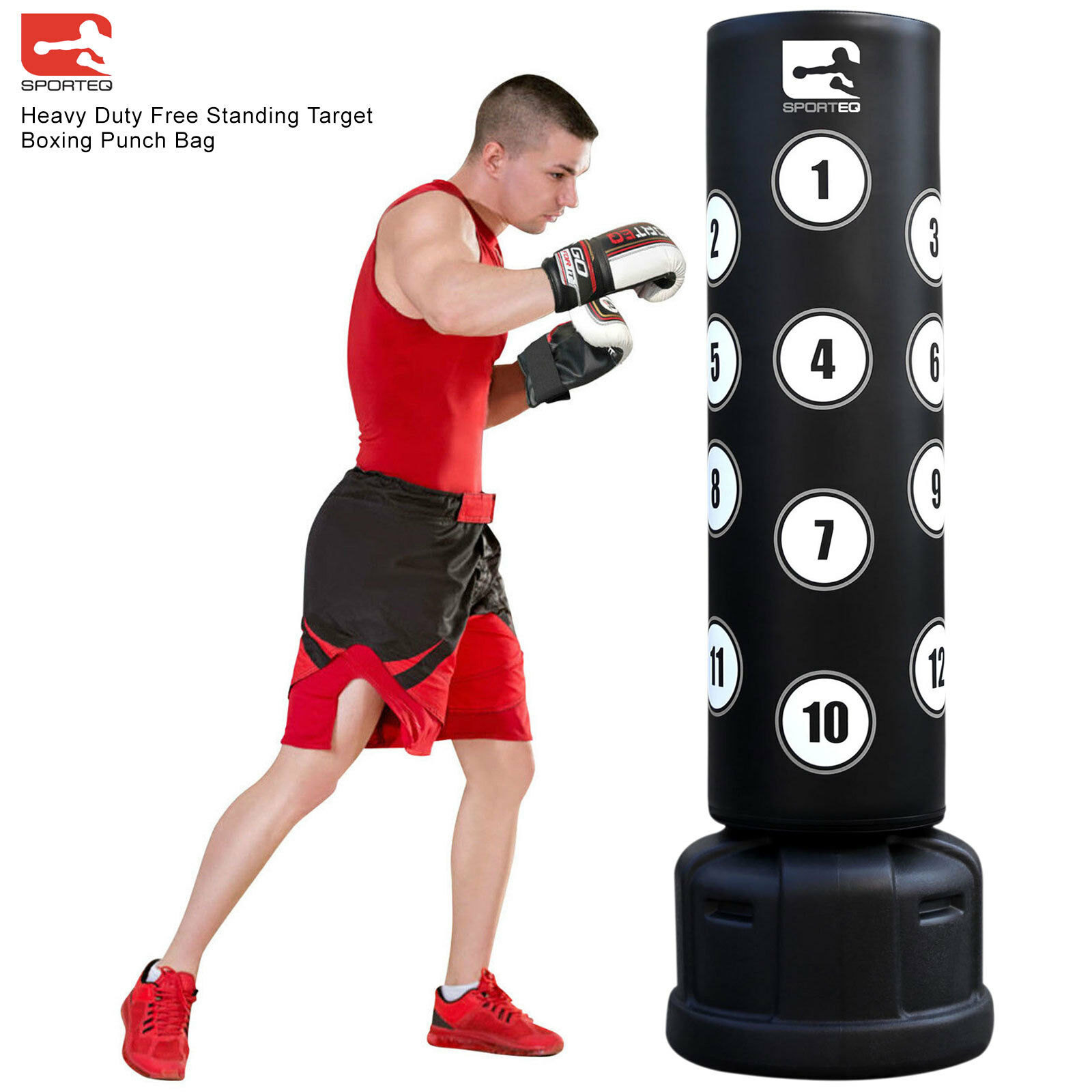 Sporteq 6FT New XXL Commercial Heavy Duty,Free Standing Target Boxing Punch Bag