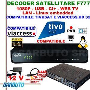 DECODER-SAT-HD-S2-DIGIQUEST-F777-LINUX-COMPATIBILE-TIVUSAT-E-TV-SVIZZERA-WEB-TV