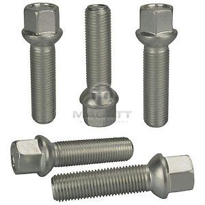 10 tornillos perno de rueda tornillos m12 x 1.5 x 55 cono kegelbund 60 ° sw17