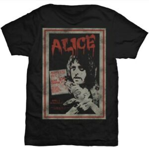 ALICE-COOPER-Vintage-Poster-Men-s-T-Shirt-Unisex-Official-Band-Merch