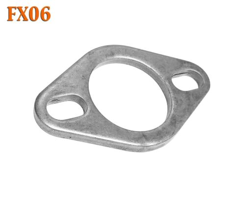 """FX06 2 1//8/"""" ID Flat Oval Two Bolt Steel Exhaust Flange Fits 2/"""" 2.125/"""" Pipe"""