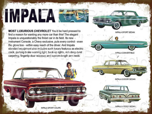 30x40cm Chevrolet Impala Series Rustic Tin Sign or Decal