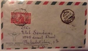 Italy-1949-Airmail-Cover-to-USA-w-Family-amp-Scales-100L-Solo-Consulate-General