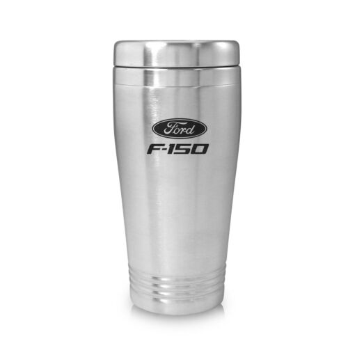 Ford F-150 Brushed Silver Stainless Steel Travel Mug Tumbler OLP