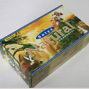 Raeucherstaebchen-12-x-15g-Natural-180g-Box-Nag-Champa-Satya-indien-goa