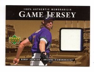 RANDY JOHNSON MLB 2000 UPPER DECK GAME JERSEY DIAMONDBACKSYANKEESGIANTS - Usk, United Kingdom - RANDY JOHNSON MLB 2000 UPPER DECK GAME JERSEY DIAMONDBACKSYANKEESGIANTS - Usk, United Kingdom