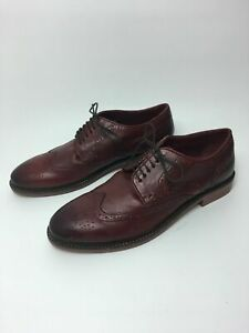 MENS-NEXT-BURGUNDY-LEATHER-BROGUES-LACE-UP-SMART-FORMAL-WORK-SHOES-UK-10-EU-44