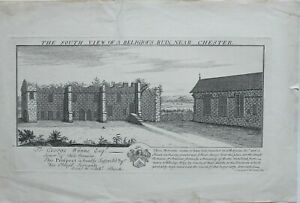 1727-ANTIQUE-PRINT-SOUTH-VIEW-RELIGIOUS-RUIN-NEAR-CHESTER