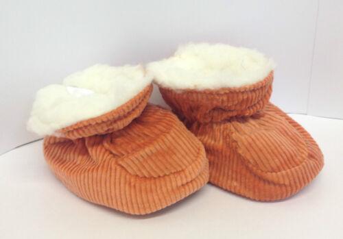 Baby Boys Girls Fur Corduroy Trainer Booties Indoor Shoes Slippers Socks UK Size