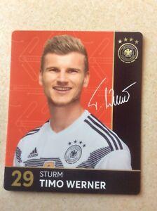 Nr. 29 Timo Werner, Sturm, REWE Sammelkarte 2018, Fußball Weltmeister Album - Köln, Deutschland - Nr. 29 Timo Werner, Sturm, REWE Sammelkarte 2018, Fußball Weltmeister Album - Köln, Deutschland