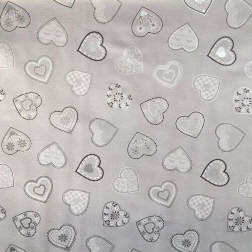 PVC Table Nappe love coeurs gris en lin blanc look en dentelle vintage Ardoise Essuyer Capable