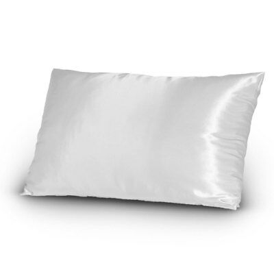 Pair Of Satin Pillowcases Queen Standard Size Pure White
