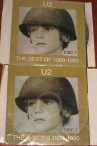 The-Best-of-1980-1990-The-B-Sides-Limited-by-U2-2-CD-Nov-1998-NO-CASE