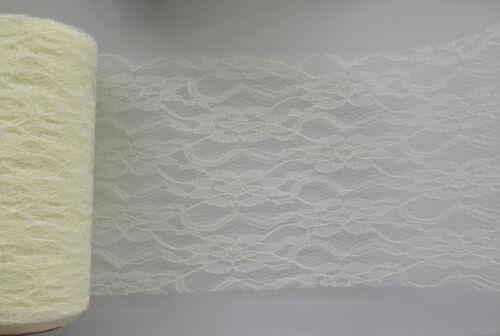 Dentelle filet largeur 15cm club vert-noir//blanc//crème