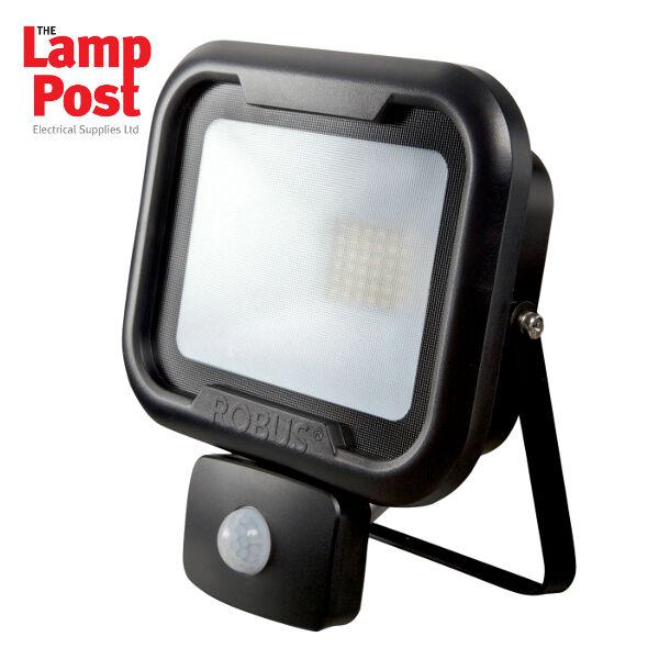 Robus RRE3040P-04 - Remy 30W LED Luz De Inundación Con PIR IP65 PoliCochebonato 4000K