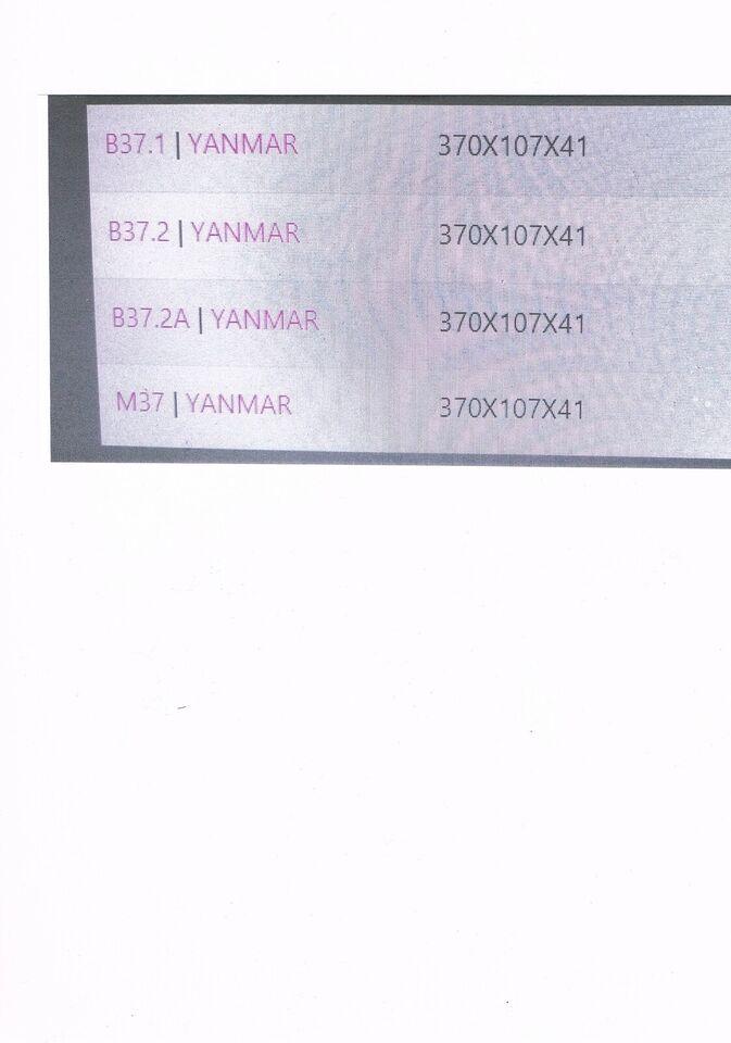 gummibælte, Yanmar