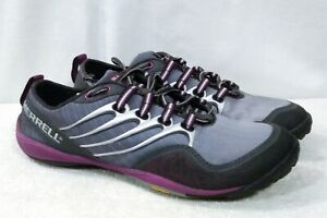 Merrell-Shoes-Vibram-Barefoot-Running-Shoes-size-6-5-Gray-Purple-Lace-Up-J6878