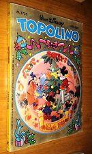 TOPOLINO  # 1725 - WALT DISNEY - 18 DICEMBRE 1988- NATALE - CON CEDOLA